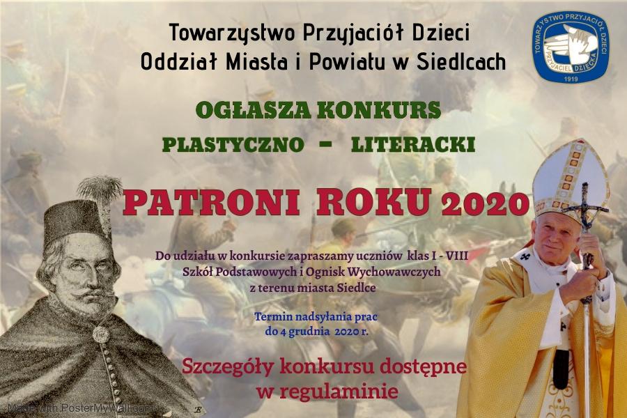 """Konkurs """"Patroni roku 2020"""""""
